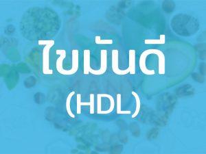 HDL ไขมันดี เป็นไขมันความหนาแน่นสูง มีประโยชน์ ช่วยลดปัจจัยในการเกิดโรคร้ายได้