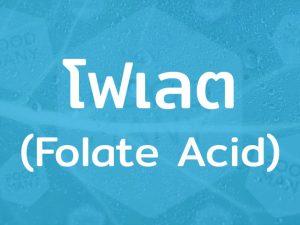 โฟเลต (Folate Acid) วิตามินชนิดหนึ่ง ร่างกายไม่สามารถผลิตได้เอง พบในอาหารจำพวกผัก ผลไม้และนม