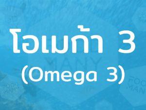 โอเมก้า 3 (Omega 3) กรดไขมันที่มีความจำเป็นต่อร่างกาย ช่วยเสริมสร้างกระบวนการทำงานต่างๆ